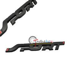 1X 3D Chrome Metal Matte Black Car Trunk Racing SPORT Emblem Badge Decal Sticker