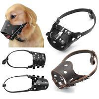 746|Muselière Chien-Réglable-cuir-Museau-Résistant-anti aboiement en cuir-chien