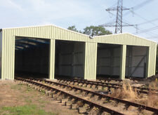 Pre-Fabricated Steel Portal Frame Building Industrial Metal Pre-Fab Rail Storage