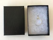 Sterling Silver 925 Bezel Pendant Bail w/ Gift Box for U. S. Dime 10 Ten Cents