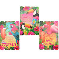 Large 57cm Tropical Wooden Wall Hanging Plaque Cocktail Bar Home Kitchen Sign