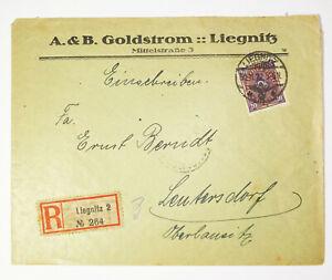 R-Brief Liegnitz A.&B.Goldstrom 1922 Schlesien ! (B1