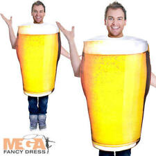 Realistic Pint of Beer Mens Ladies Fancy Dress Alcohol Oktoberfest Adult Costume