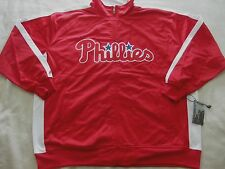 MEN'S SIZE 3XL PHILADELPHIA PHILLIES MLB MAJESTIC FULL ZIPPER TRACK JACKET NWT