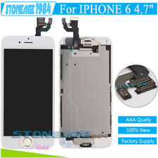 For iPhone 6 Screen Replacement LCD Digitizer Touch White &Gold Button+Camera UK