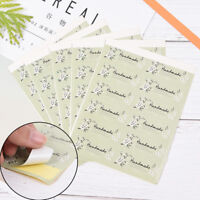 60Pcs/5sheets Fresh Style Flower Hand Made Seal Sticker Handmade Gift Label XR