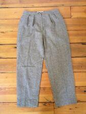 """Vintage Pendleton 100% Wool Pleat Front Herringbone Chevron Tweed Pants 30"""" Wst"""