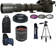 500mm 1000mm TELEPHOTO ZOOM LENS + BACKPACK + TRIPOD FOR CANON EOS REBEL DSLR