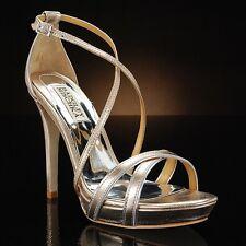 Badgley Mischka fierce gold strappy heels 5.5