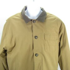 NORTH BAY Mens Field Jacket Size L Beige Button Out Quilted Lining  NWT New $135
