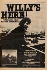 Mink DeVille Return To Magenta UK Tour advert 1978