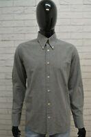 Camicia Uomo ARMANI JEANS Taglia L Maglia Manica Lunga Grigio Shirt Man Casual