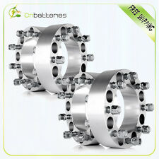 """(4) 2"""" 8x6.5"""" Adapters 9/16 Wheel Spacers For 1975-1997 Ford F-250 F-350"""