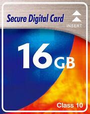 16gb- Class 10 16GB Tarjeta SDHC Tarjeta de memoria para Canon IXUS 1100HS 230HS