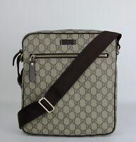 Gucci Men's Beige/Ebony GG Coated Canvas Shoulder Bag 201448 FCIGG 8588