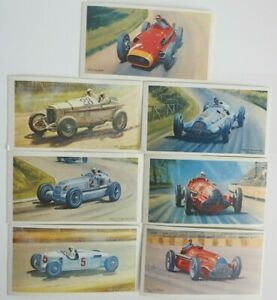 Collectible 1971 Trading - Mobil - The Story Of Grand Prix Motor Racing 7 Cards