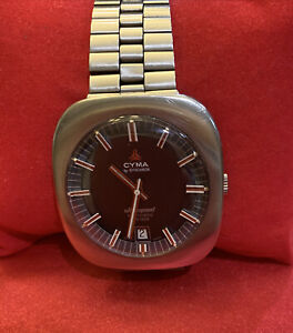 Vintage CYMA by Synchron Ultraspeed Automatic Watch 36000 Swiss Made with Date
