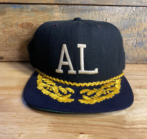 Vintage American League AL Wool New Era Hat Made in USA fitted 7 1/4 umpire rare