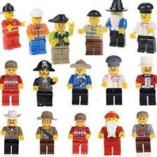 20 Mini Figures Set of Professions - Policeman, Fireman, Driver, Chef & More