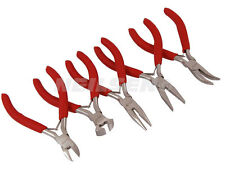 CT1104 5PC Mini Jewellers Craft Pliers Set Side End Cutters Bent & Flat Nose