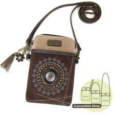 NEW CHALA STARBURST BROWN CELL PHONE CROSSBODY PURSE ADJUSTABLE STRAP