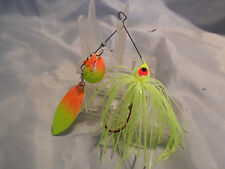 Best Bass Gear..  1/2 ounce Spinnerbait Chartuese Tandem New in Package #3