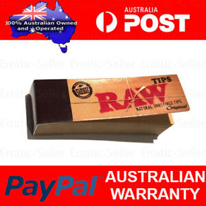Raw Filter Rolling Tips   Chlorine free Unrefined Card Books Rollie Paper Butt