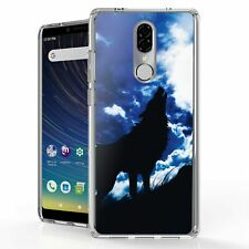 For Coolpad Legacy Bumper Clear Protector Case Howl Wolf