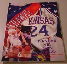 KU Jayhawk Basketball Program - San Diego Dec 1, 1996
