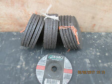 """4"""" x 1/4 """" X 5/8 CENTER - SEGRO GRINDING DISCS - 16 IN TOTAL- FOR CHEAP POSTAGE"""