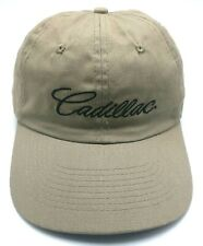 CADILLAC tan / brown adjustable cap / hat - wide brim