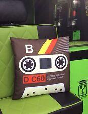 Cassette Tape B Pillow from Meninos. Retro 80's novelty cushion, Volkswagen