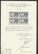 France Bloc commémoratif   YT 1451 centenaire  UIT  satellite cosmos espace RARE