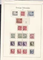 sweden 1946-54 stamps page ref 18051