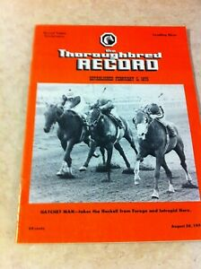 1976 Thoroughbred Record, Forego, Hatchet Man, Haskell,Honest Pleasure, Tom Fool