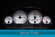 Disco TACHIMETRO PER BMW e46 Tachimetro Benzina o Diesel m3 BIANCO 3082 TACHIMETRO