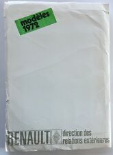 1972 Renault Car Media Brochure Catalog Press Kit 4 8 16 6 12 Gordini 15 17