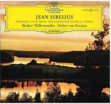 Sibelius: Finlandia, Valse Triste, Tapiola, Il Cigno  / Karajan, Berliner LP DGG