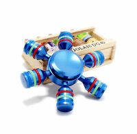 Colourful Hand Finger Gyro Fidget Spinner Toys Focus EDC For adults Gift blue
