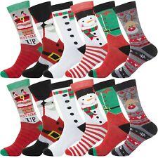 Mens Womens Unisex Christmas Socks XMAS Novelty Stocking Santa Gift 1, 3 &6 Pack