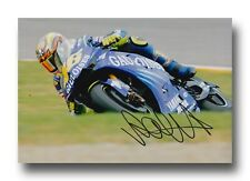 VALENTINO Rossi Firmato a Mano 12X8 foto-MotoGP Autografo-YAMAHA 1.