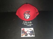 Drew Waters Atlanta Braves Autographed Signed 2016 Game Used Hat Cap 4