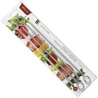 TRIANGLE SET 4 PIQUES A BROCHETTES INOX 30 CM BARBECUE VIANDE FRUITS / 90324