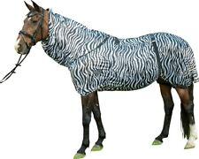 ⭐️⭐️ HKM Ekzemerdecke Zebra mit Halsteil / Fliegendecke, 75-165 cm, NEU⭐️⭐️