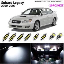 10Lamps 5630 Xenon White Interior Light Kit LED SMD For 2000-2009 Subaru Legacy