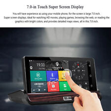 """New 7"""" 1080P HD Car DVR GPS Dual Lens Rearview Camera Dash Cam 3G+Wifi Bluetooth"""