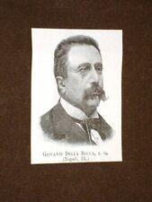 Deputato nel 1893 Onorevole Giovanni della Rocca di Napoli