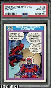 1990 Marvel Universe #156 Spider Man Presents Magneto PSA 10 GEM