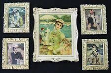 Vintage Windsor Mode Framed Prints -Grouping of 5 Victoria Ladies; 1 Lg -4 Sm-NM