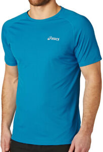 Asics Essential Short Sleeve Mens Running Top - Blue